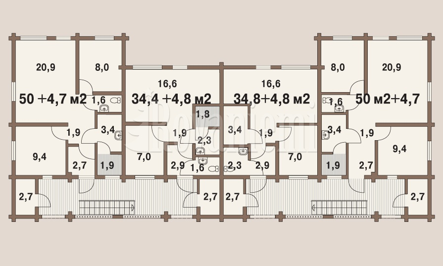 Symphony townhouse, floor plan – Rovaniemi Log House