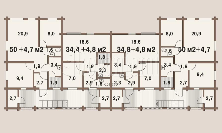 Symphony townhouse, floor plan – Rovaniemi Log House