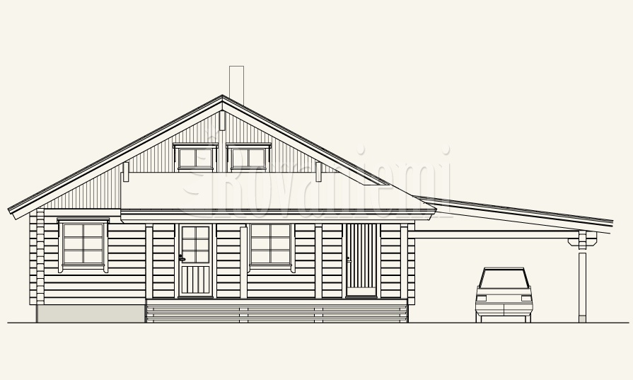 Triebental project's facade – Rovaniemi Log House