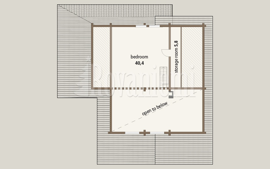 Triebental floor plan, 2nd floor – Rovaniemi Log House