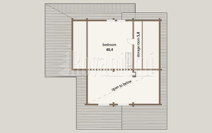 Triebental floor plan, 2nd floor – Rovaniemi Log House