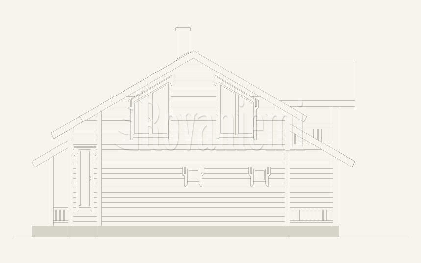 Villa Lappi, facade – by Rovaniemi Log House