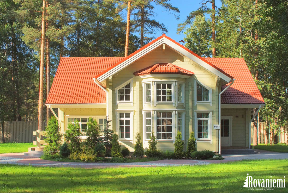 Villa Lappi project – beautiful wooden cottage by Rovaniemi Log House.