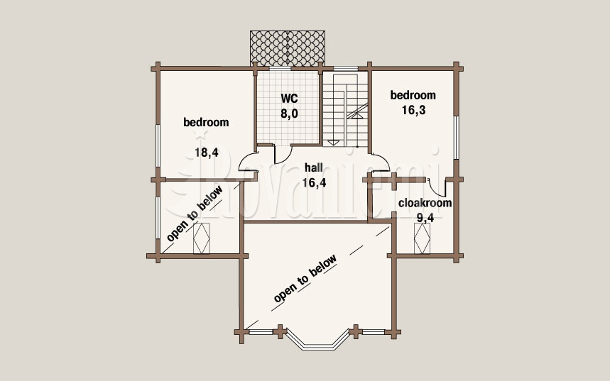 Villa Lappi, floor plan, 2nd floor – by Rovaniemi Log House
