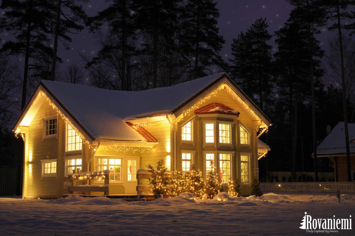 Villa Lappi modern wooden cabin by Rovaniemi Log House