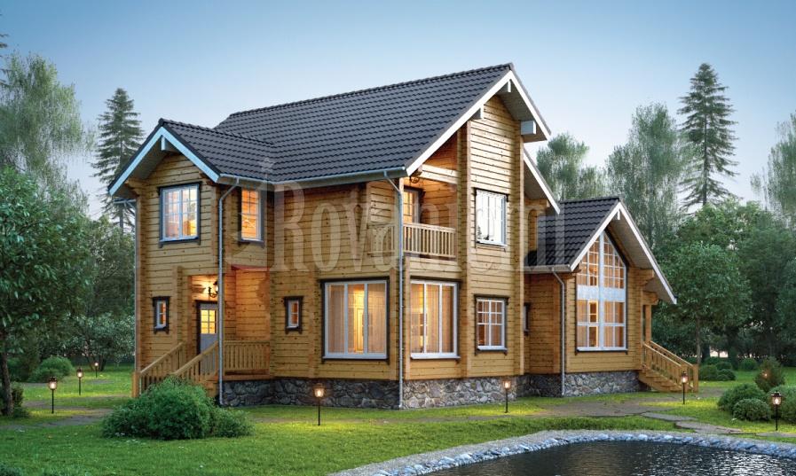 Viola –elite wooden cottage by Rovaniemi Log House.