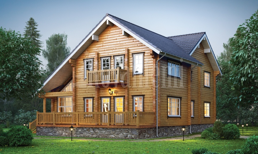 Viola – elite wooden cottage by Rovaniemi Log House.