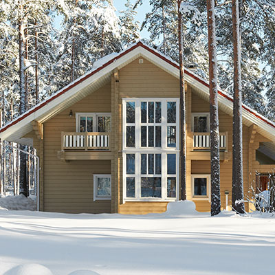 Maison en bois Finlandais de moyenne gamme.