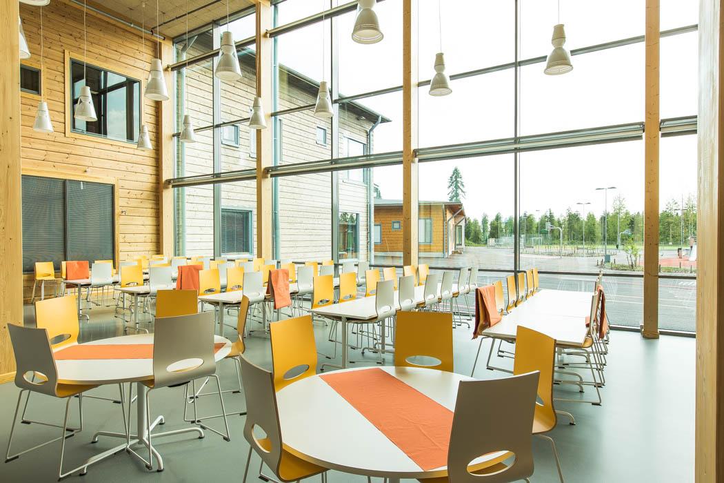 Pudasjärvi Log Campus – Canteen.