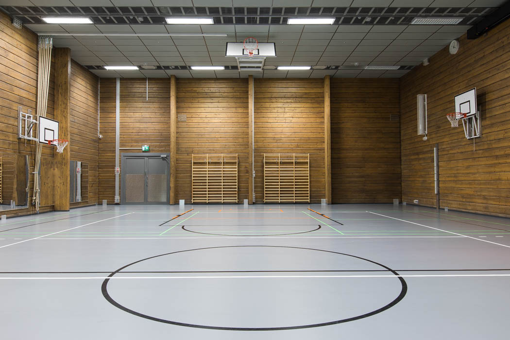 Pudasjärvi Log Campus – Sports hall.