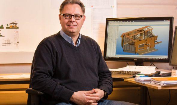 Tomi Kinnunen is a designer at Rovaniemi Log House
