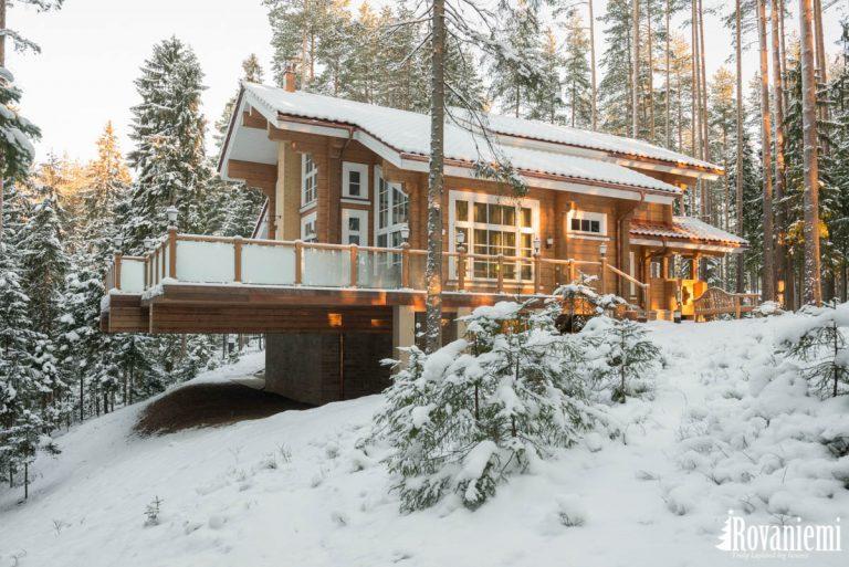 Maison spa piscine Aura, l'exterieur de projet –Rovaniemi maison en bois.