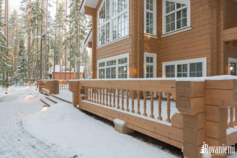 Blockhaus aus Finnland Modell Helios – Rovaniemi Blockhäuser.