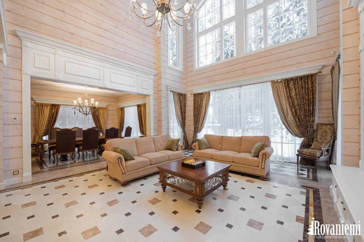 Innerhalb Finnisches Luxus Holzhaus –Rovaniemi Blockhäuser.