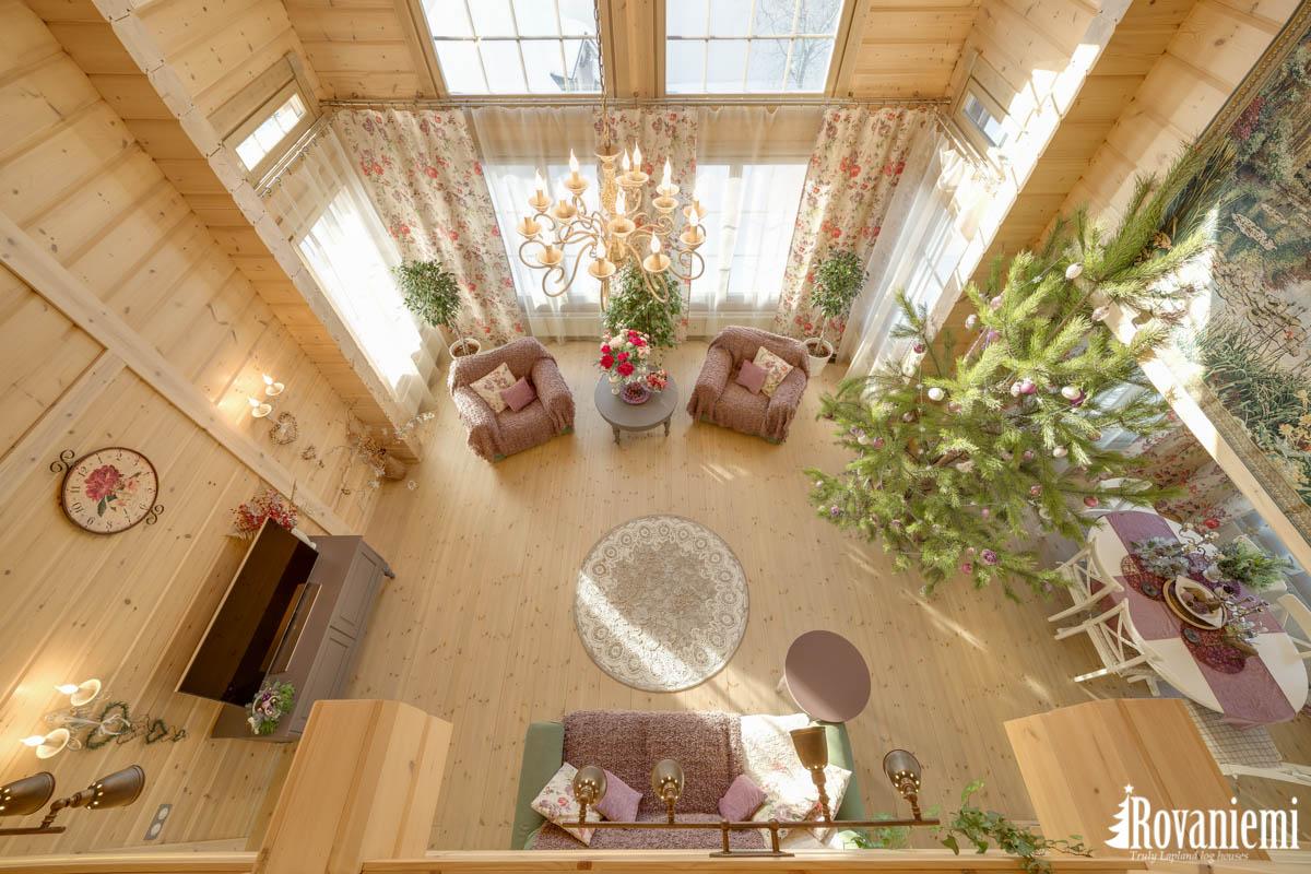 Interieur de projet Inspiration Rovaniemi maison en bois.