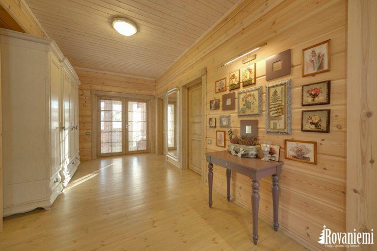 Interior moderno finlandes madera casa modelo Helios.