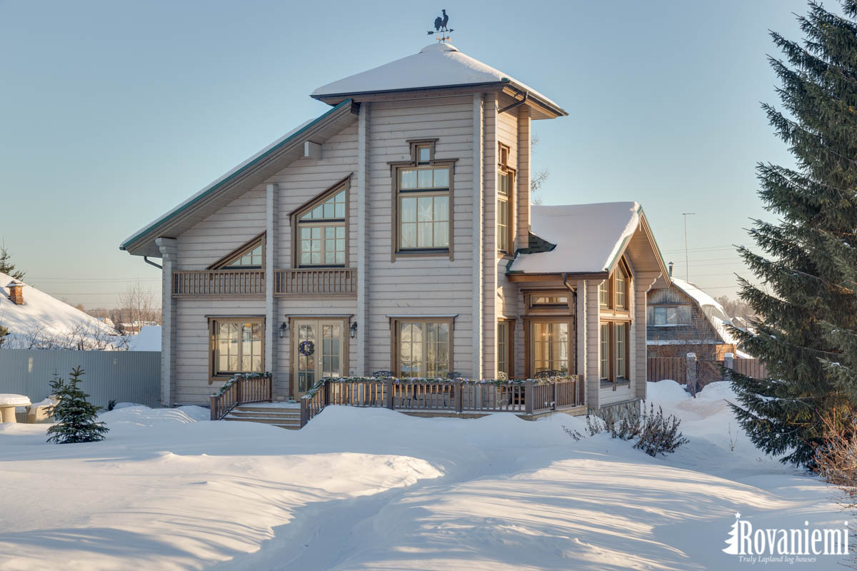 Lappland Blockhaus Finnland Modell Inspiration –Rovaniemi Blockhäuser.
