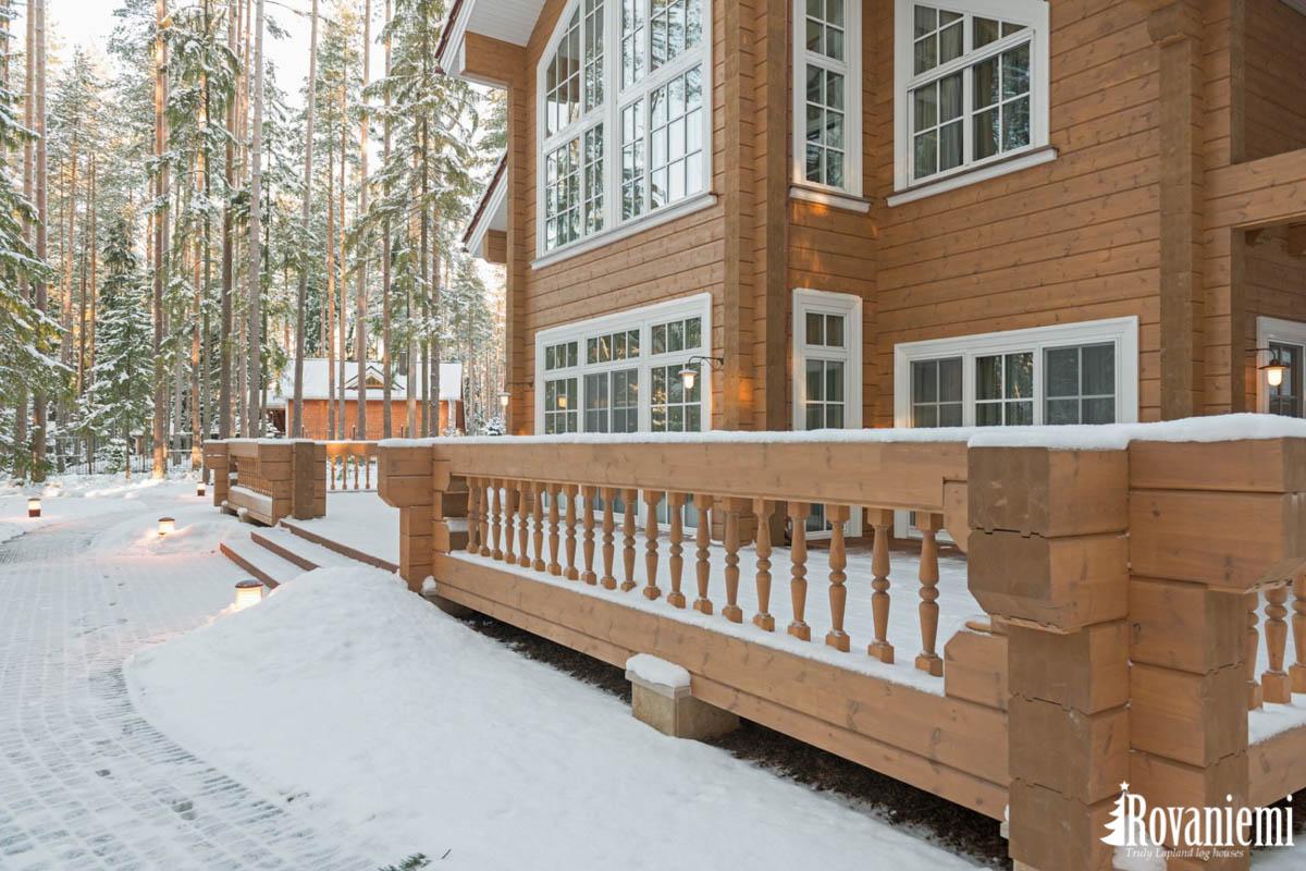 Lujo madera casa Finlandia –Rovaniemi casas de madera.