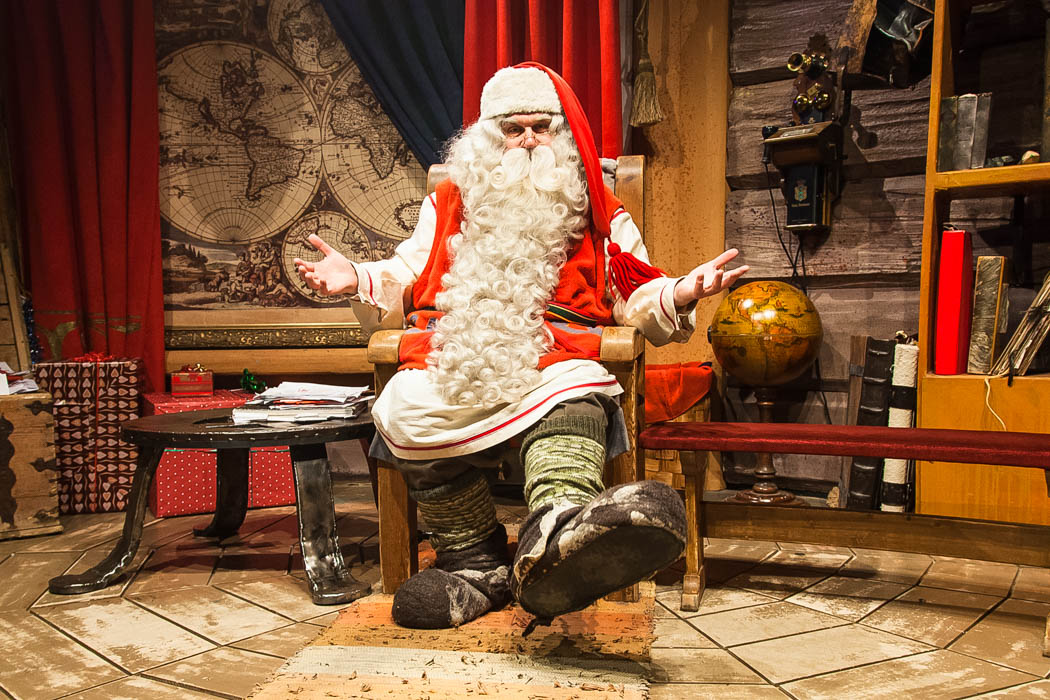 Santa Claus in his Office in Rovaniemi, Lapland.