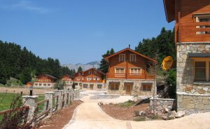 Wooden holiday village in Parnassos Greece provided by Aito Log Houses