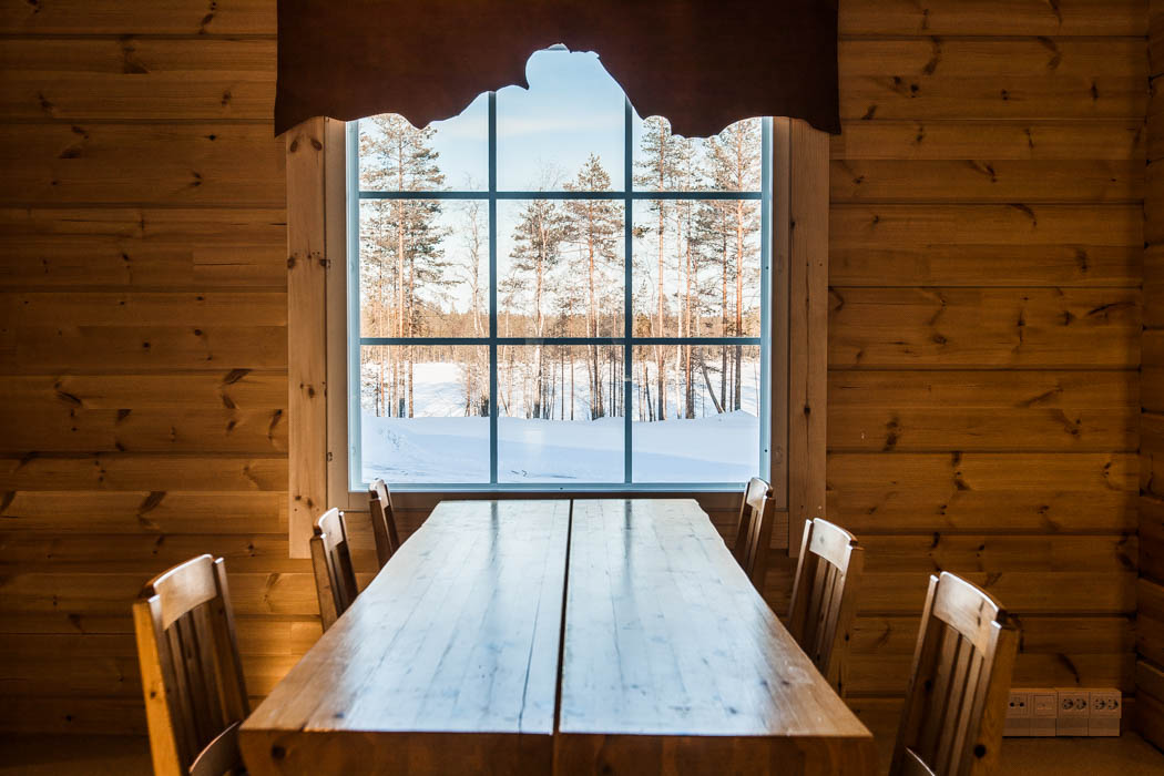 Safari house in Rovaniemi features a wonderful forest view and nature outside.